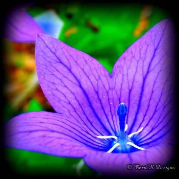 Veins of blue by Terri K Designs