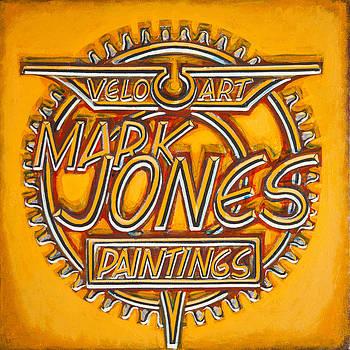Velo Art Painting Orange by Mark Howard Jones