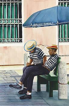 Venetian Gondoliers by Laura Ramsey
