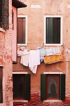 Venetian Laundry in Peach and Pink by Brooke Ryan