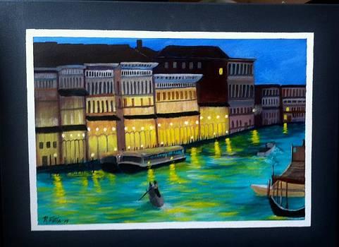 Venice At Night by Rich Fotia