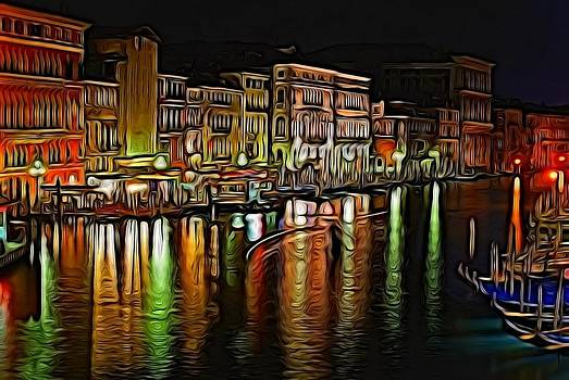 Venice at night by Ron Harpham