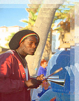 Venice Beach Percussionist by Alice Ramirez