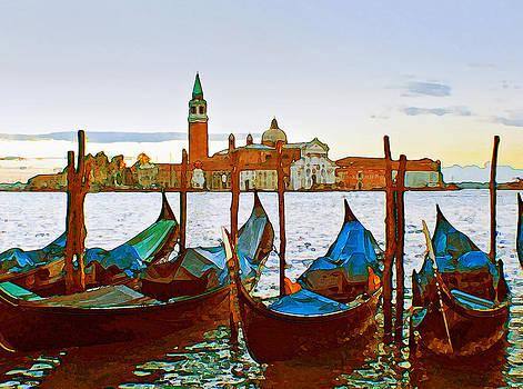 Venice Gondolas by Michael Fahey