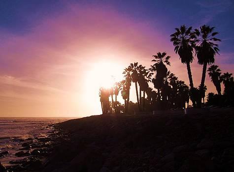 Ventura Beach Sunset by MaryEllen Frazee