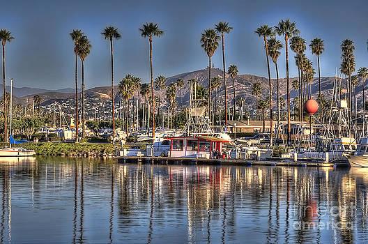 Dan Friend - Ventura scene with palm trees