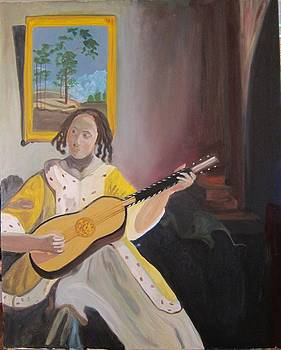 Vermeer The Guitar Player by Denise Boineau