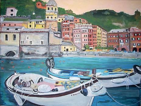 Vernazza Harbor by Teresa Dominici