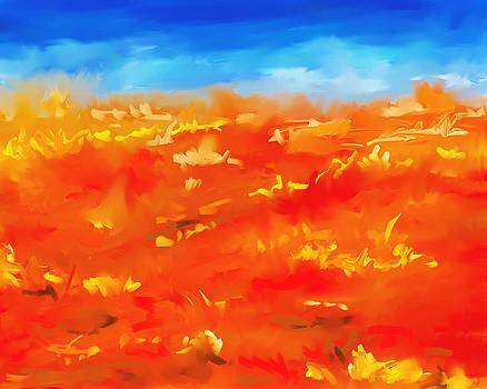 Michelle Wrighton - Vibrant Desert Abstract Landscape Painting