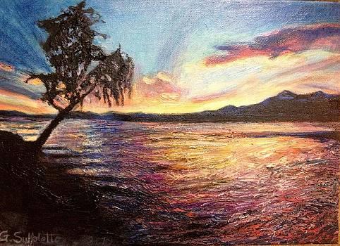 Vibrant sunset by Genevieve Elizabeth