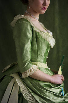 Victorian Woman In A Green Dress by Lee Avison