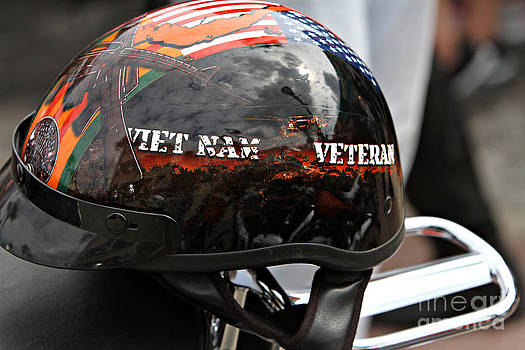 Vietnam helmet by J Michael Johnson Photography