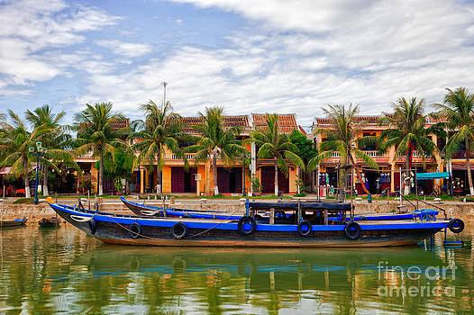 Vietnamese UNESCO city of Hoi An Vietnam by Fototrav Print
