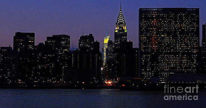 VIEW FROM LONG iSLAND CITY TO THE UNITED NATIONS AND CHRYSLER BUILDING by Kendall Eutemey