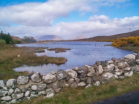 View from Quiet Man Bridge Oughterard Ireland by Charles Kraus