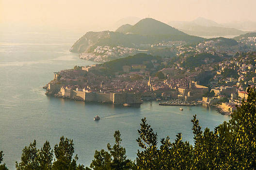 View of Dubrovnik Peninsula by Phyllis Peterson