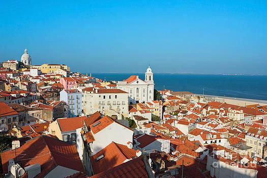 View of Igreja de Santo Estevao in Alfama Lisbon by Kiril Stanchev