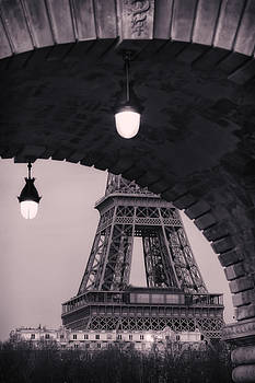 View of the Eiffel Tower from under a Bridge by Francesco Rizzato