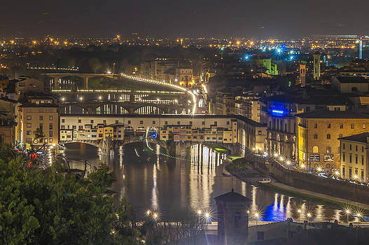 View  of the historic centre of Florence by Ayhan Altun