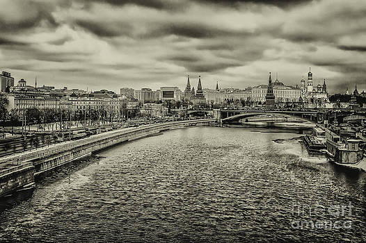 View on old town Moscow by Valerii Tkachenko
