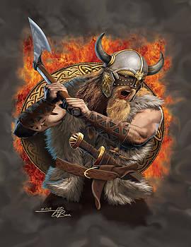 Viking fire by  Orlando Baca