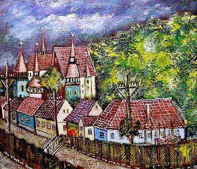 Ion vincent DAnu - Village from Transylvania