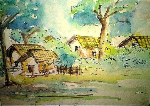 Village in nature by Asm Ambia Biplob