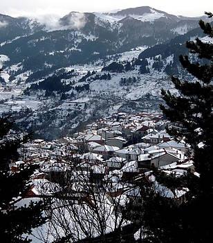 Village in the Mountains by Paraskevas Momos
