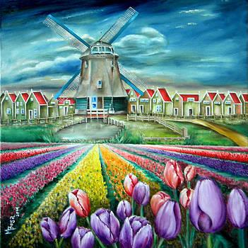 A Tulips Field by Miriam Besa