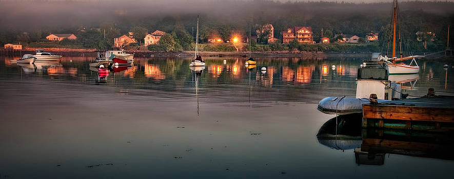 Thomas Schoeller - Village Reflections from Southwest Harbor