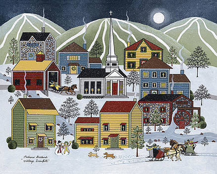 Village Snowfall by Medana Gabbard