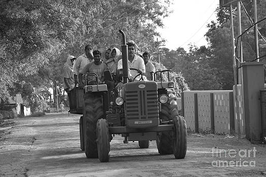 Village Tractor  by Bobby Mandal