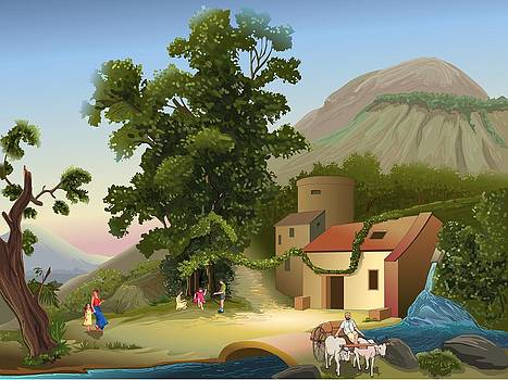 Villege by Prakash Leuva