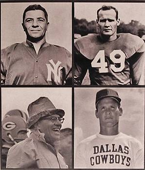 Vince Lombardi and Tom Landry by Donna Wilson