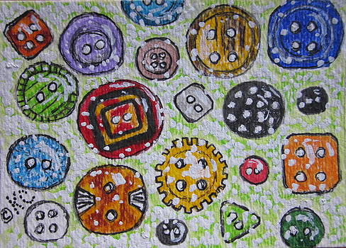 Vintage Antique Buttons by Kathy Marrs Chandler