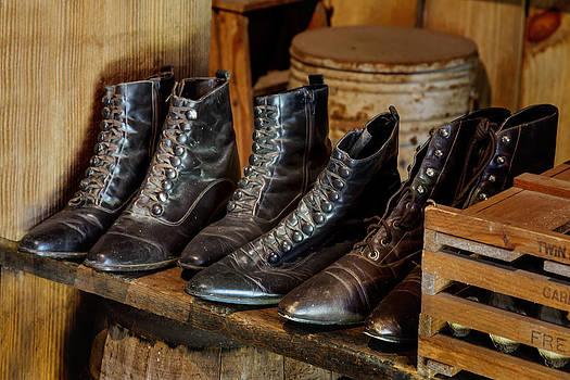 Lynn Palmer - Vintage Black Leather Shoes