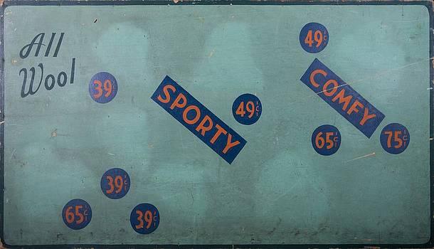 Vintage Cap Sign by Kurt Olson