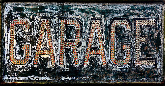 Vintage Garage Sign by Glenn McGloughlin
