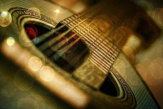 Vintage Mandolin With Bokeh by Anne Macdonald