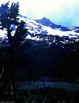 Vintage Mount Rainier with Reflexion Lake early 1900 era... by Eddie Eastwood