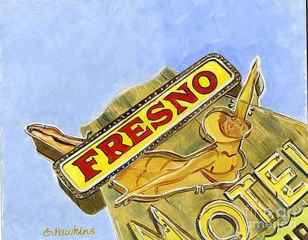Vintage Neon- Fresno Motel by Sheryl Heatherly Hawkins