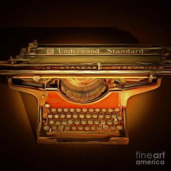 Wingsdomain Art and Photography - Vintage Nostalgic Typewriter 20150228 square