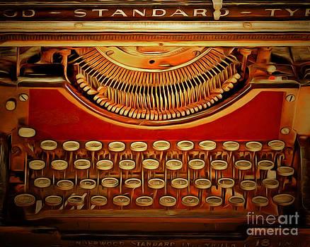 Wingsdomain Art and Photography - Vintage Nostalgic Typewriter 20150228v2