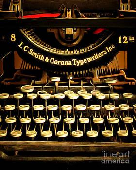Wingsdomain Art and Photography - Vintage Nostalgic Typewriter 20150302n2 vertical