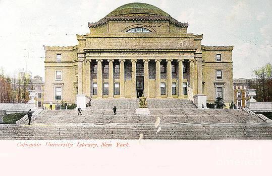 Patricia Hofmeester - Vintage postcard of Library of University of Columbia