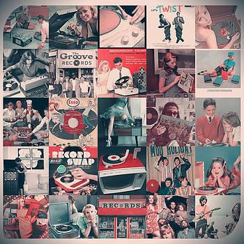 Vintage record collage by Allen Beilschmidt