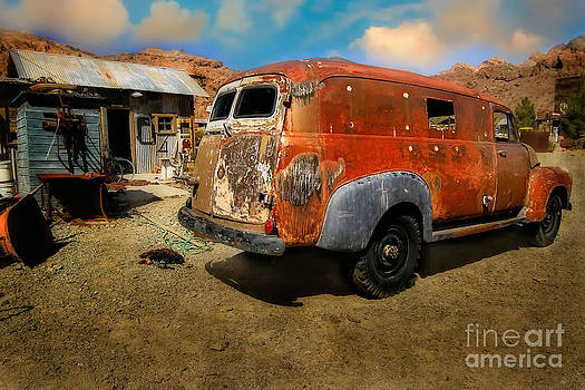 Vintage Rusty Chevy Panel Truck by Brenda Giasson