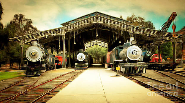 Wingsdomain Art and Photography - Vintage Steam Locomotive 5D29186brun
