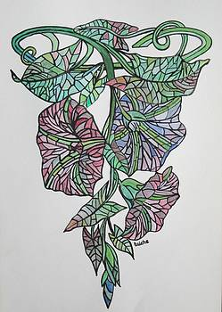 Tracey Harrington-Simpson - Vintage Style Stained Glass Morning Glory