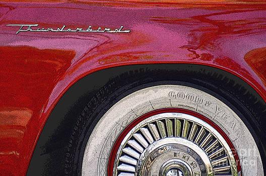 Vintage Thunderbird  by Juls Adams